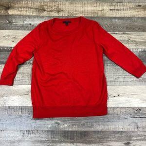 J CREW | Bright Red Tippi Sweater Merino Wool M